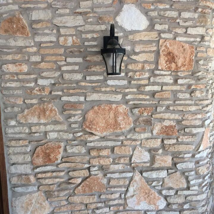 q i want to white wash paint the stone on the exterior of my house