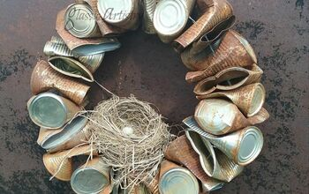 Recycled Tin Can Wreath DIY Tutorial