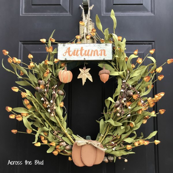 s 15 fall wreaths to kick off our favorite season, Golden blooms fall wreath