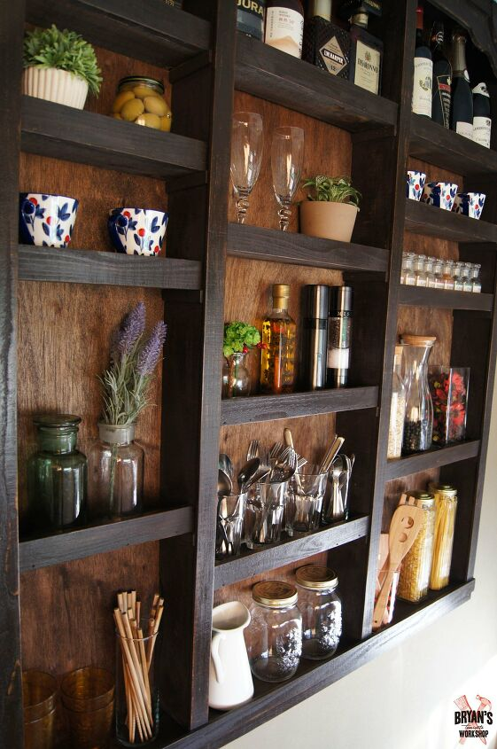 s 13 beautiful storage shelving ideas that are anything but boring, Built in kitchen wall shelves