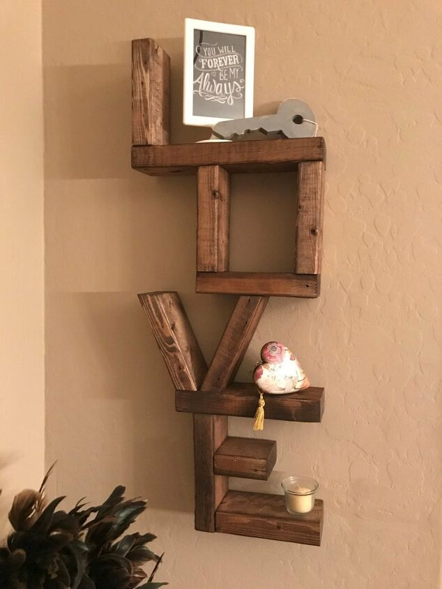 s 13 beautiful storage shelving ideas that are anything but boring, A love shelf