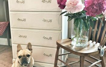 Solid Wood Dresser Goes Pink and White
