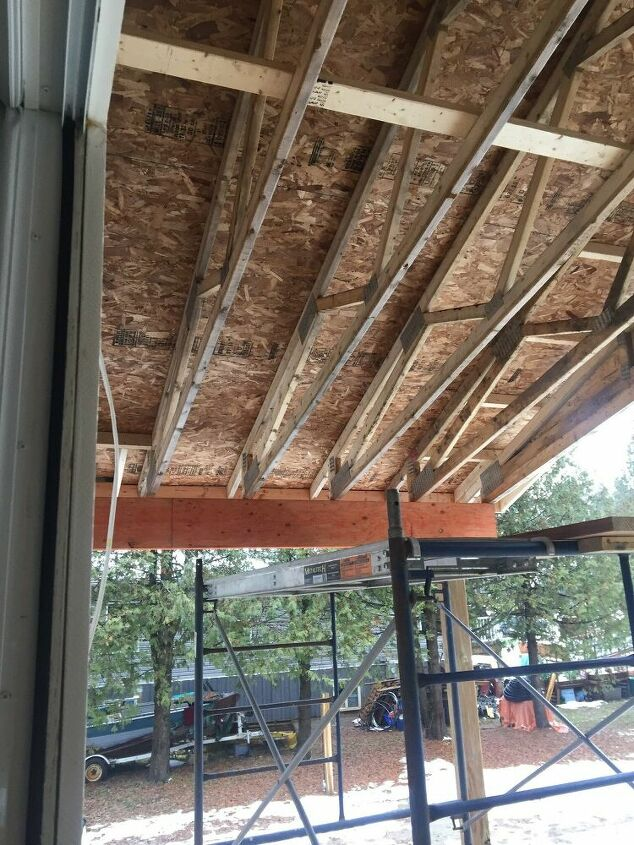 q how to finish under my deck roof