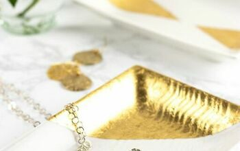 DIY Gold Leaf Trays for Jewelry & More