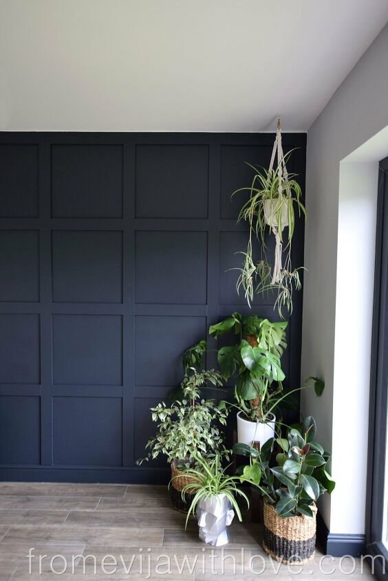 s 17 ways to enhance your entryway and give a great first impression, Make an entryway statement using adhesive no nails