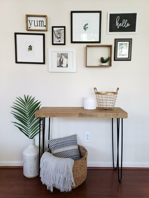 s 17 ways to enhance your entryway and give a great first impression, Spruce up your entryway with a gorgeous hairpin table
