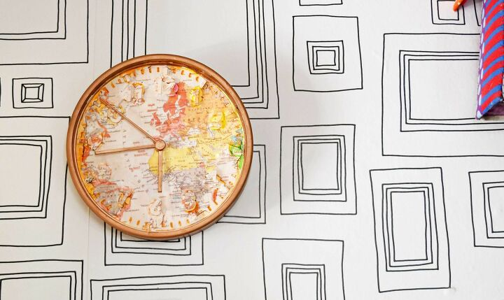 s 15 creative ways to use maps for stunning home decor, IKEA Stomma map clock