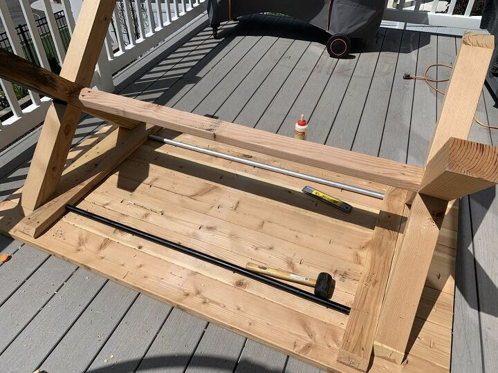 build your own x leg outdoor table