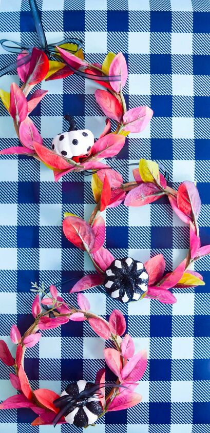 s 13 fall crafts, Mini hoop fall wreaths