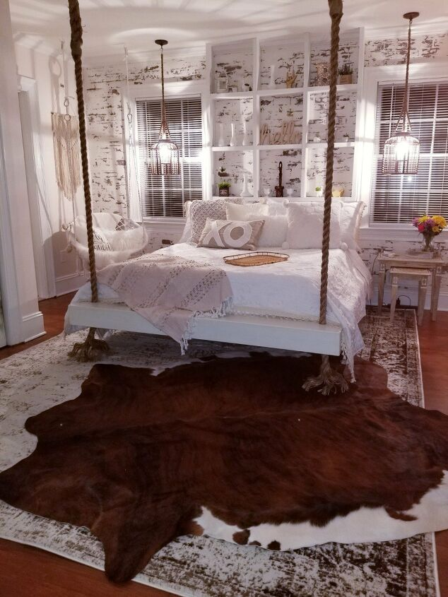 s 11 diy room makeovers to get you inspired to do your own, AFTER WOW With this hanging bed who wouldn t want to stay here