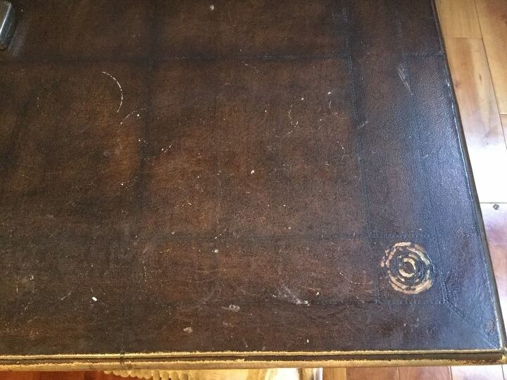 q faux leather table top