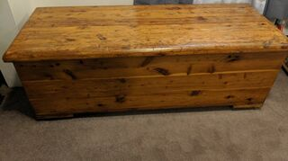 q cedar chest and table redo