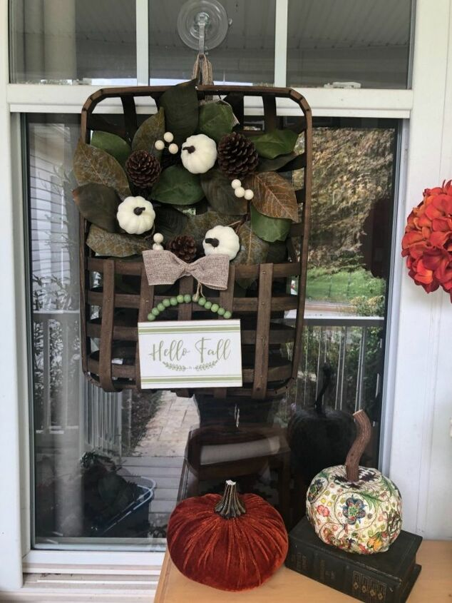 how to decorate a tobacco basket for seasons holidays