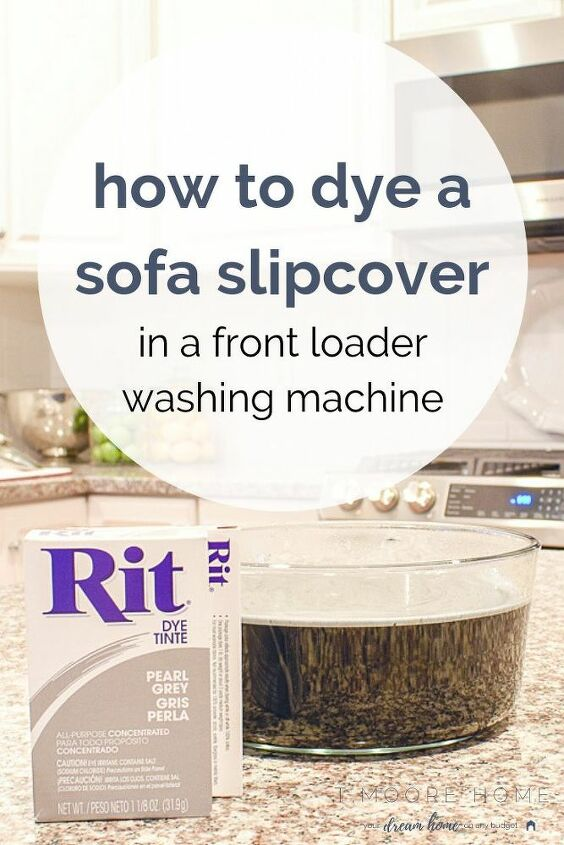 dyeing sofa cover in a front loading washing machine