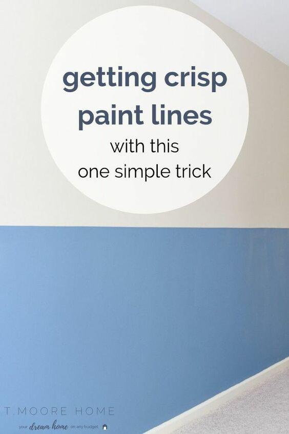 get crisp paint lines for color blocking on walls