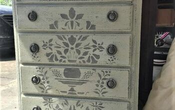 Drab and Outdated Oversized Nightstand... Turned Into Old World Charm