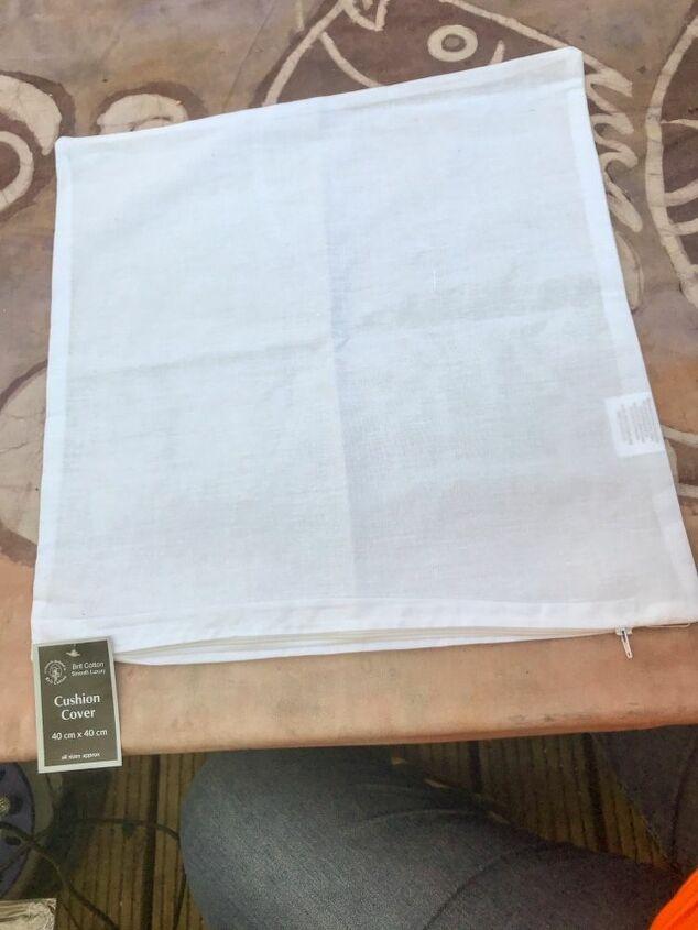 Plain cotton cushion cover
