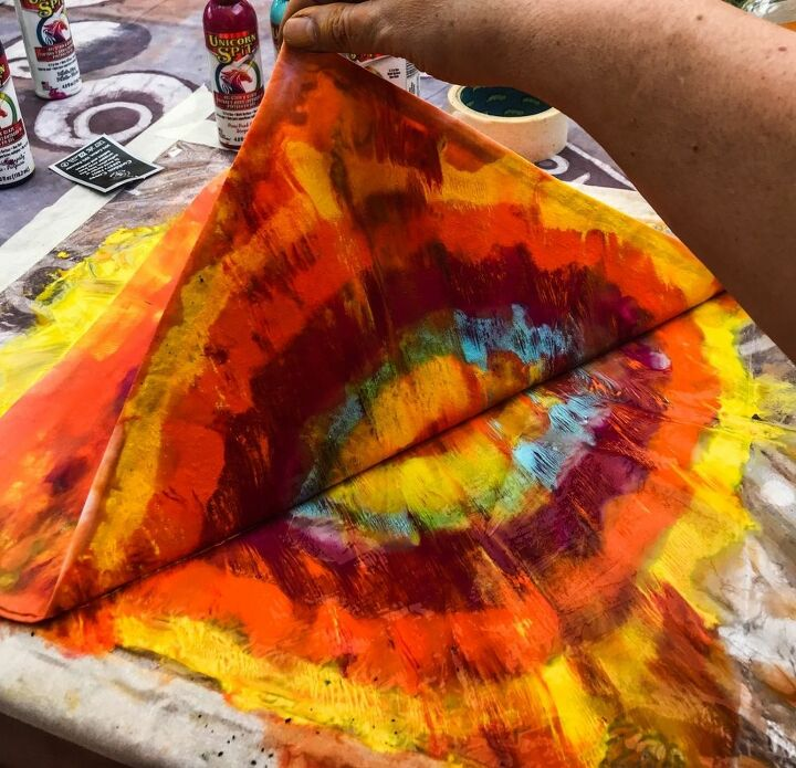 how to turn your plain cushions into crazy colourful puffs of delight, Peel away the cover from the uni orb spit gel