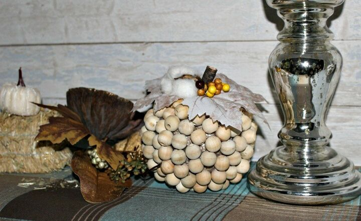 s 21 farmhouse accents to add to your home, Wooden beads pumpkins Yes please