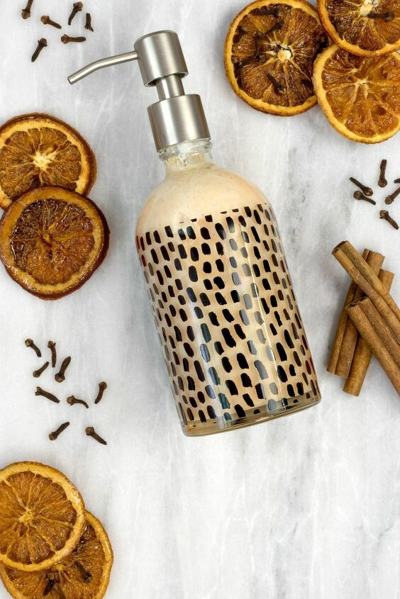 diy mulled cider liquid hand soap made from bar soap