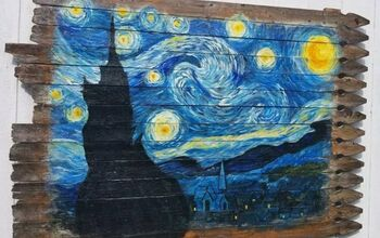 Paint Van Gogh's Starry Night Mural on an Old Fence