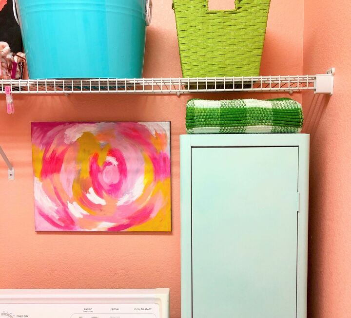 s 7 laundry room makeovers that ll make you want to do your laundry here, AFTER This updated thrift store locker was just the thing