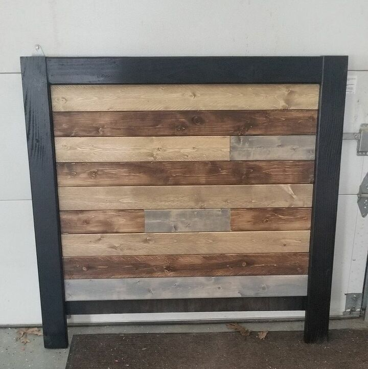 easy twin headboard and platform bed