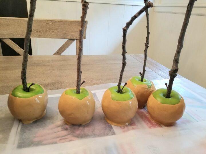 fun for fall faux caramel apples