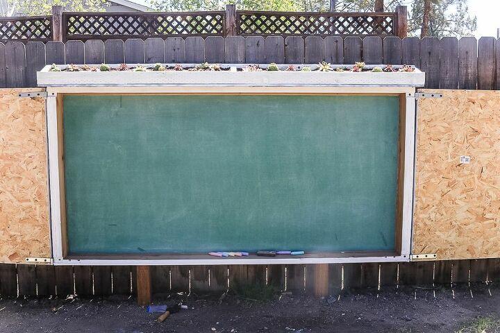 large chalkboard for backyard
