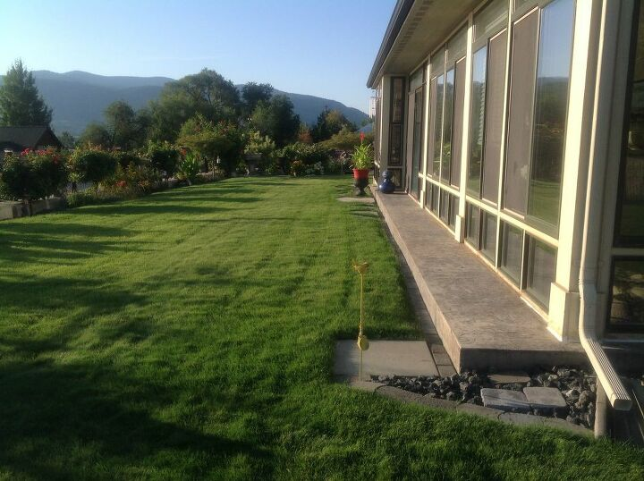 q how to keep the irrigation water blowing back on the sunroom windows