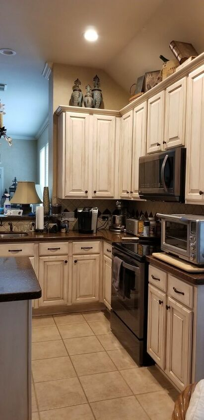 How To Paint Shabby Chic Kitchen Cabinets Diy Hometalk