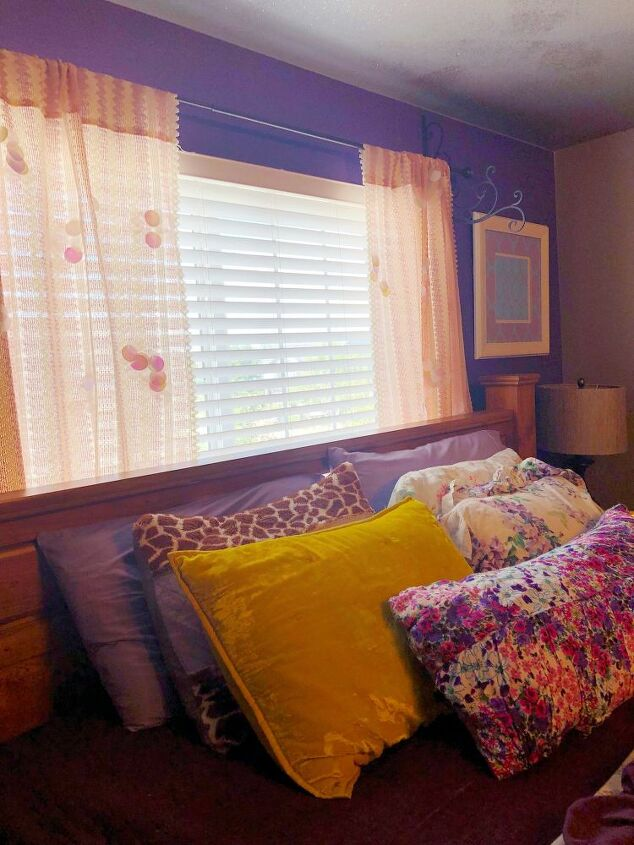 thrift store curtains makeover