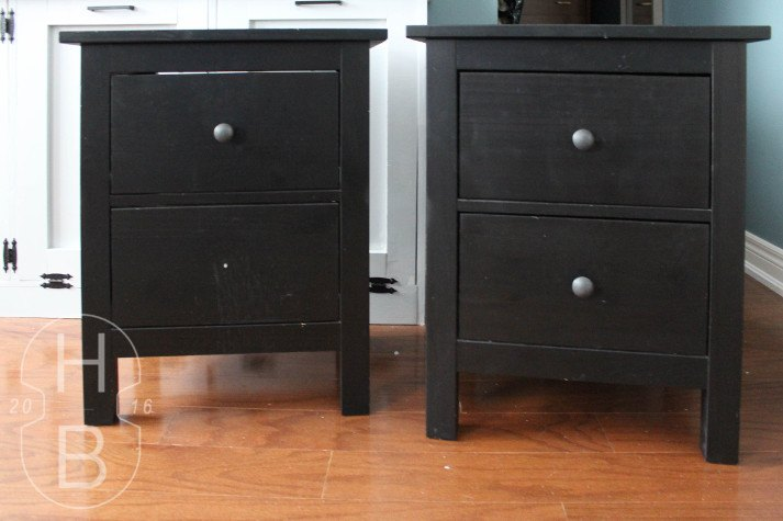mid century inspired ikea bedside table hack