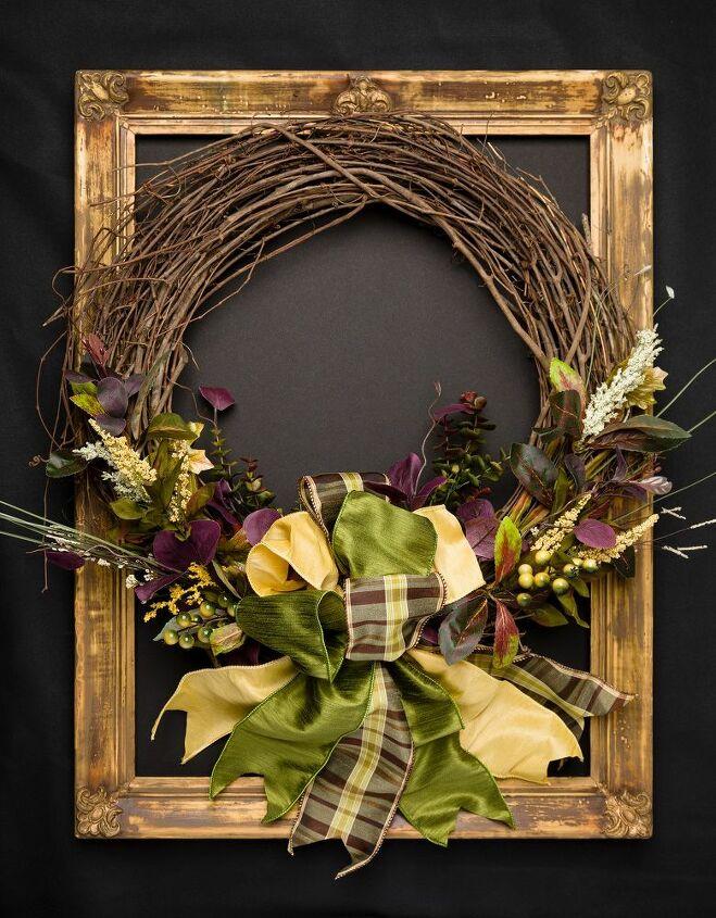 elegant fall wreath