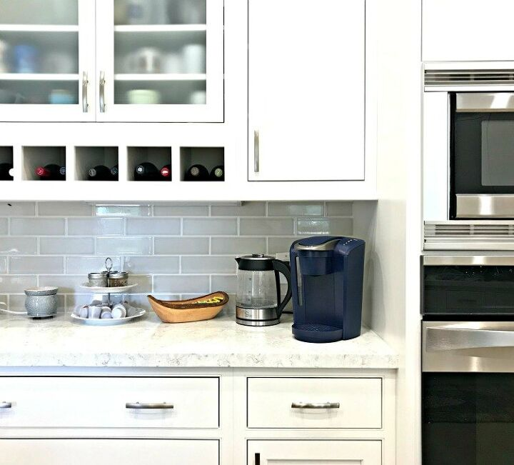 replace grout along your kitchen counter with caulk