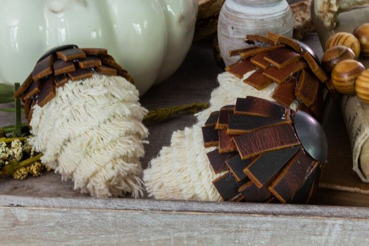 diy boho acorns for fall
