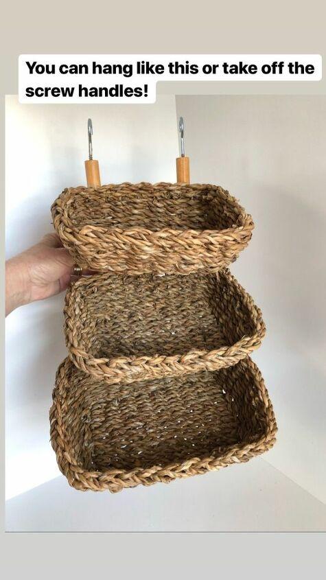 diy basket shelf