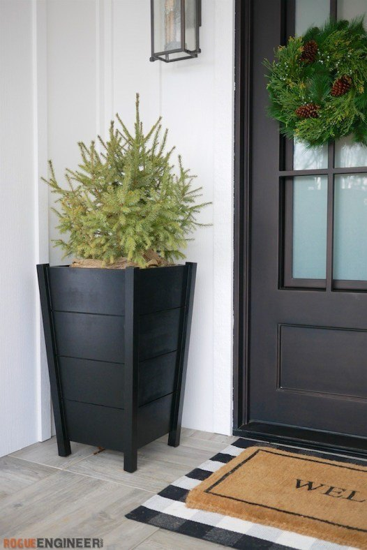 modern tapered planters