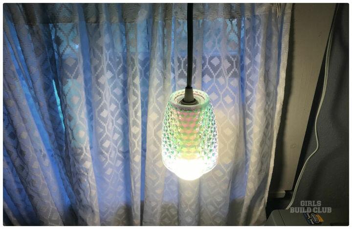walmart cup turns into pendant light
