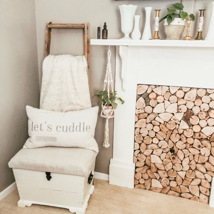 s 8 fireplace makeovers you have to see before winter, AFTER We re in love with this faux fireplace