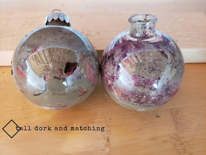 rose and cement ornamental balls