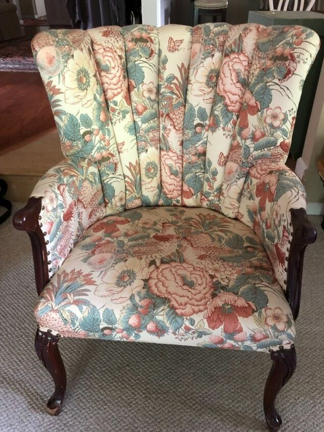 q any thoughts on painting a fabric chair w wood legs and arms