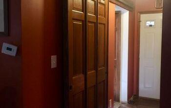 Repurposing Doors Into a Sliding Door