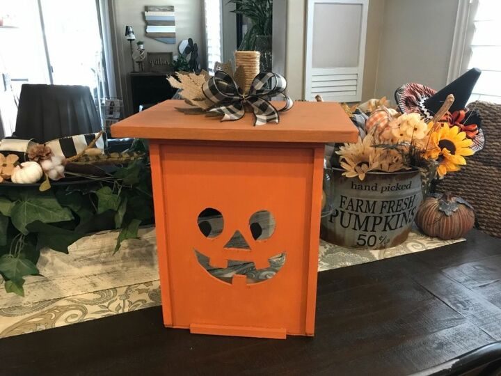 how to turn a drawer into a pumpkin