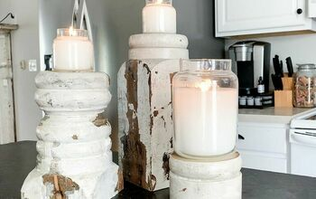 DIY Candlesticks | Farmhouse Style
