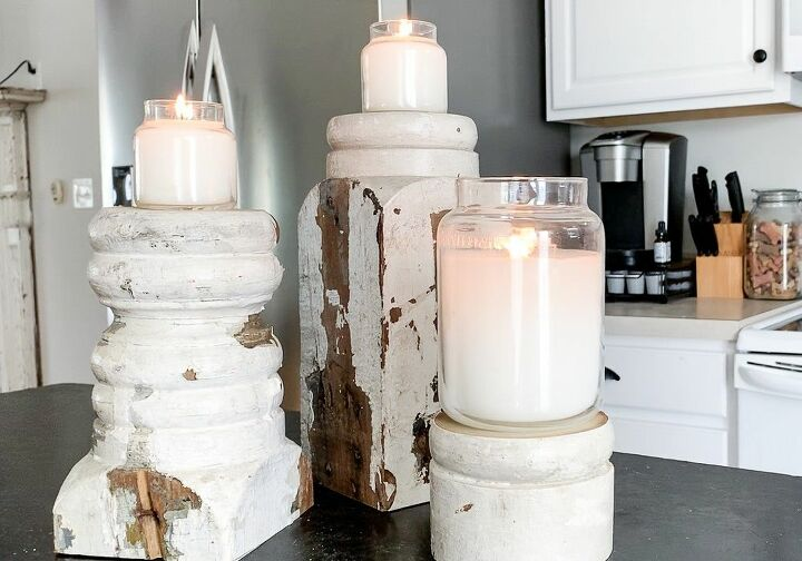 diy candlesticks farmhouse style