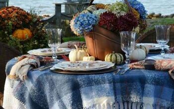 DIY Blooming Fall Centerpiece~ No Flower Arranging Skills Required!