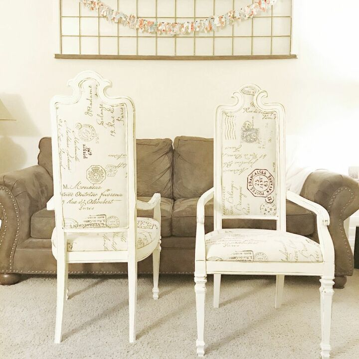 reupholstered refinished dining chairs