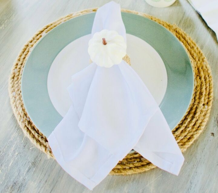 s 13 gorgeous table decor ideas for you o copy this fall, Dollar Store pumpkin napkin rings
