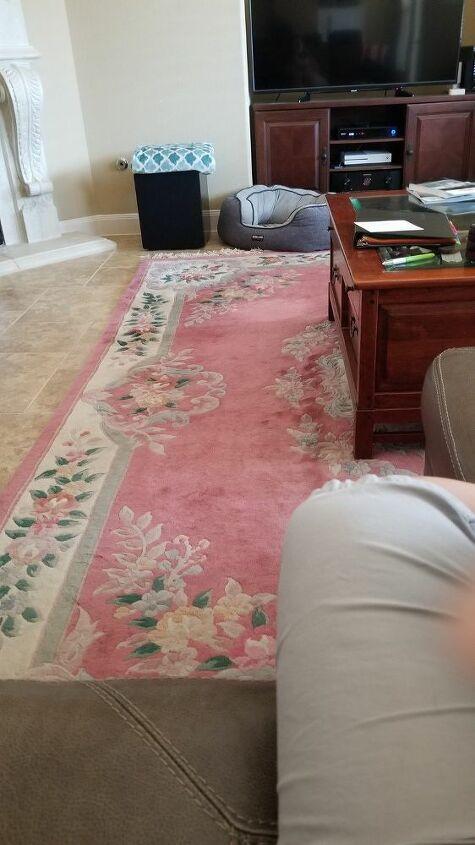 q how do i update a wool rug